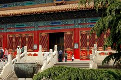 Beijing, China: Forbidden City Hall Royalty Free Stock Photography