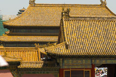 Beijing China Forbidden City. Lying at the center of Beijing, the Forbidden City, called Gu Gong, in Chinese, was the imperial palace during the Ming and Qing stock photo
