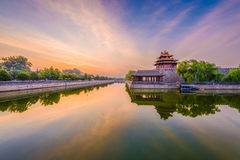 Beijing, China Forbidden City. Outer moat stock photography