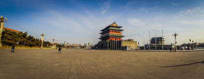 BEIJING, CHINA - 29 JANUARY, 2017: Temple building next to Mao memorial hall, located on Tianmen square Stock Photo
