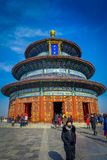 BEIJING, CHINA - 29 JANUARY, 2017: Temple of heaven, imperial complex with spectacular religious buildings located in Royalty Free Stock Photos