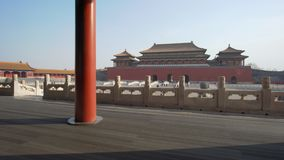 4k moving shot of Forbidden City in Beijing stock video footage