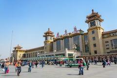 BEIJING, CHINA - MAR 23, 2015 : Passangers crowd around Beijing Royalty Free Stock Images