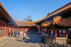 BEIJING, CHINA - MARCH 11, 2016: Forbidden City.  People visit t Stock Photography