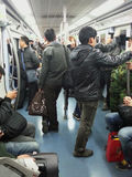 Subway carriage in beijing Royalty Free Stock Photo