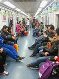 Subway carriage in beijing Royalty Free Stock Photography