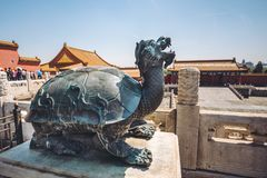 Sculptures in Forbidden city, Beijing, China Royalty Free Stock Photos
