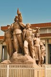 Beijing China 06.06.2018 Monument in front of Mao`s Mausoleum on Tiananmen Square. stock photography