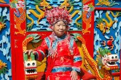 Beijing, China: Mulher na veste cerimonial foto de stock royalty free