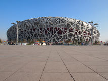 Beijing China National Stadium Bird Nest Stock Images
