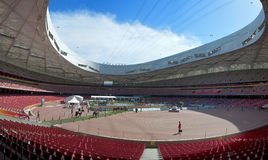 Beijing China National Stadium Internal Panoramic Stock Images