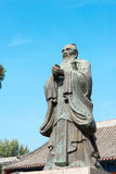 BEIJING, CHINA - Oct 18 2015: Confucius Statue at Imperial Colle Royalty Free Stock Photography
