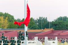 BEIJING, CHINA - Oct 12 2015: Flag Raising Ceremony of Tiananmen Royalty Free Stock Photo