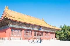 BEIJING, CHINA - Oct 11 2015: Zhongshan Hall at Zhongshan Park. Stock Image