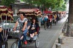 Free Beijing China Tourists At Rickshaw Stock Photo - 125717250