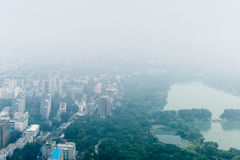 Beijing China View From Above Haze Royalty Free Stock Photo