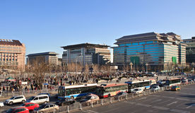 BEIJING, CHINA. Xidan commercial area. Royalty Free Stock Images
