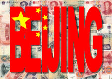 Beijing With Chinese Currency Royalty Free Stock Photography