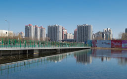 Beijing city. In China Beijing, Olympic Park not far from the newly built several buildings Stock Photography