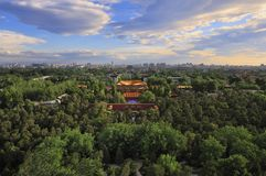 Beijing city central axis skyline Sunrise Royalty Free Stock Photos