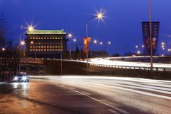 Beijing city at dusk. China Royalty Free Stock Photography