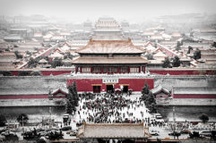 Beijing City. Beijing forbidden city in China Stock Photography