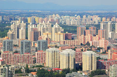 Beijing city skyline and building. Real estate is China's most important  industries now.House prices rose several times in  recent years.More and more houses Stock Photos