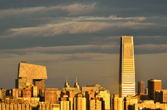 Beijing city Skyline on sunset Royalty Free Stock Photography