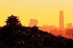 Beijing City Sunrise Stock Photo