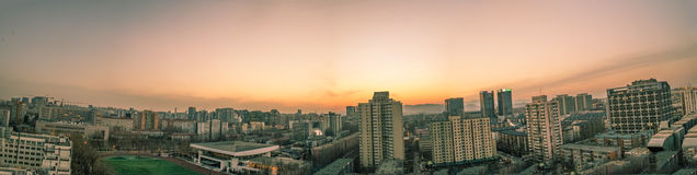 Beijing city views. In Beijing, China, the city at sunset panorama, taken on February 28, 2014 Stock Image