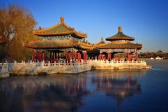 Beijing cityscape-Beihai Park Stock Photography