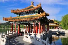 Beijing cityscape-Beihai Park. The Beihai Park is  the most famous  emperor garden in Beijing Stock Photography
