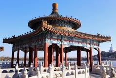 Beijing cityscape-Beihai parkerar Arkivfoto
