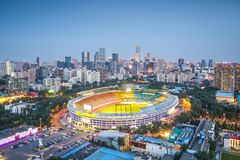 Beijing Cityscape. Beijing, China skyline and stadium Stock Images