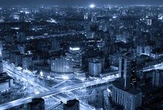 Beijing cityscape at dusk Stock Photos