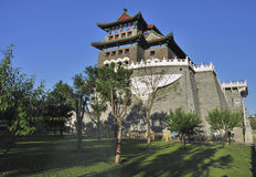 Beijing cityscape Qianmen gate tower Royalty Free Stock Images