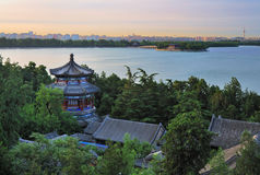 Beijing cityscape-The Summer Palace lake Stock Image