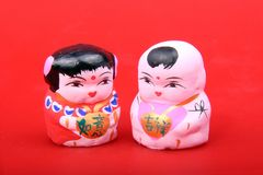 Beijing clay figurine. Clay sculpture art is a kind of old and common folk art in China. It regards earth as raw materials, in order to pinch by hand and make Royalty Free Stock Images
