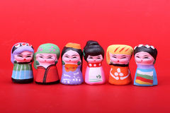 Beijing clay figurine. Clay sculpture art is a kind of old and common folk art in China. It regards earth as raw materials, in order to pinch by hand and make Royalty Free Stock Photo