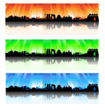 Beijing colorful Skyline Set. Beijing City Skyline colorful Silhouette  artwork Royalty Free Stock Photography