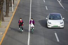Beijing Corona, Covid-19. And Green Riding And Clean Driving Royalty Free Stock Photography