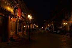 Beijing in the dawn around Qinmen street. Pic was taken in Sep royalty free stock image