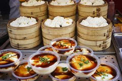 Beijing Dazhalan Market,  famous Wangfujing snack street Stock Photo