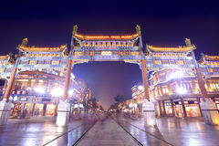 Beijing decorated archway Stock Photo