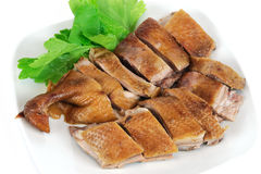 Beijing duck in dish. Cooked Beijing duck in dish Royalty Free Stock Image