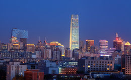 Beijing at dusk stock photography