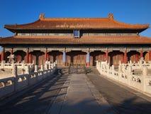 Beijing förbjuden stadsslott royaltyfri foto