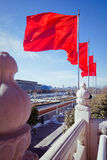 BEIJING - 6 FEB: people walking on Tiananmen square on 6 Februar Royalty Free Stock Image