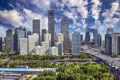 Beijing Financial District royalty free stock photography