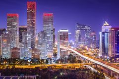 Beijing Financial District Royalty Free Stock Images